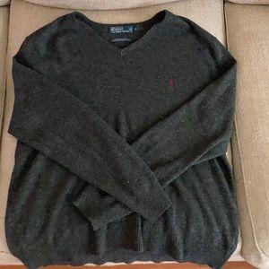 Men's XL Polo by Ralph Lauren Vneck Sweater